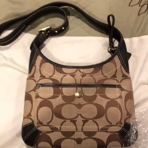Used Coach Signature Crossbody Bag